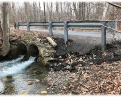 Photo of double perched culvert