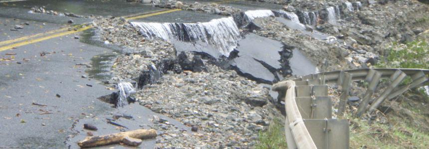 Culvert washout in Deerfield MA